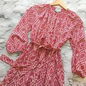 {Anthro} Maeve Ikat Button Down Shirt Dress